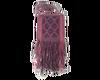 "Alpaca shoulder bag ""Purple stars"""