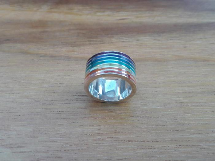 "Silver Ring ""Rainbow"""