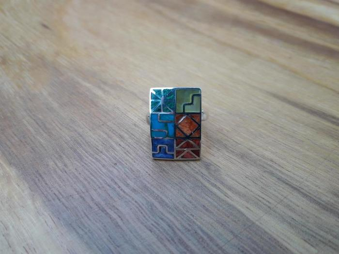 "Silver Ring ""Inka Calendar"""