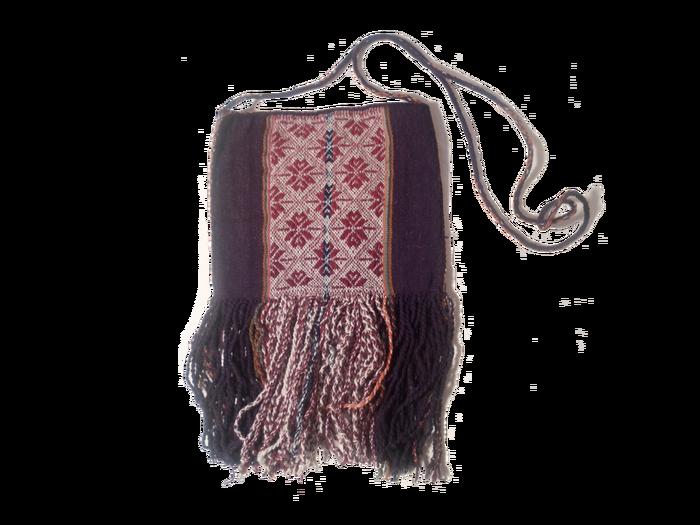 Woolen shoulder bag