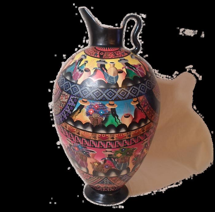 Large Ceramic Vase With Narrow Base Ya Market